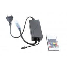 Контроллер 20 кнопок с пультом 5050 220 В 15Вт RGB IP65 (фиксированный режим) SWG