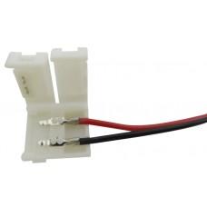 Коннектор для ленты 5050 для подключения к БП (ширина 10 мм,длина провода 15 см ) 12В SWG