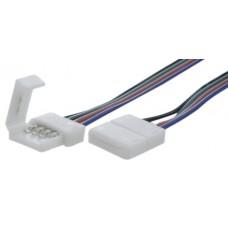 Коннектор для ленты RGB для подключения к БП (ширина 10 мм,длина провода 15 см ) 12В SWG