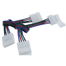 Коннектор для ленты RGB двухсторонний (ширина 10 мм,длина провода 15 см ) 12В SWG