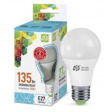 Лампа светодиодная A60 standard 15Вт 4000К 1350Лм Е27 ASD