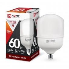Лампа светодиодная HP PRO 60Вт 6500К 5400Лм Е27 с адапт. E40 IN HOME