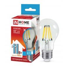 Лампа светодиодная A60 deco 11Вт 4000К 990Лм Е27 прозрачная IN HOME