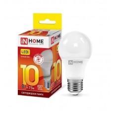 Лампа светодиодная A60 VC 10Вт 3000К 900Лм Е27 IN HOME