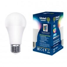 Лампа светодиодная с ИК сенсором RGB A60 10Вт 4000К 800Лм Е27 (пульт ДУ (н/к)) Uniel