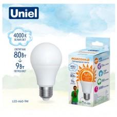 Лампа светодиодная A60 9Вт 4000K NW 800ЛМ Е27 RA95 Uniel
