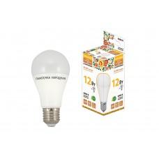 Лампа светодиодная A60 12Вт 4000К 960Лм Е27 Народная