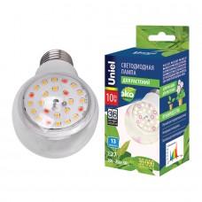 Лампа светодиодная д/растений A60 10Вт SPFB Е27 Uniel ( для фотосинтеза)