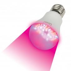 Лампа светодиодная д/растений А60 9Вт Е27 Uniel ( для рассады и цветения)