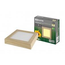 Светильник LED квадрат СПО (сосна) 12Вт 3000К 1050Лм IP20 170*170*32мм TDM