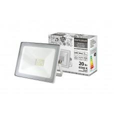 Прожектор светодиодный СДО 04 20Вт 6500К 1600Лм IP65 белый Народный