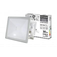 Прожектор светодиодный СДО 04 30Вт 6500К 2400Лм IP65 белый Народный