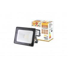 Прожектор светодиодный СДО 04 10Вт 4000К 800Лм IP65 серый Народный