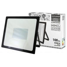Прожектор светодиодный СДО 04 100Вт 6500К 8000Лм IP65 черный Народный