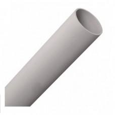 Труба гладкая жесткая ПВХ d40 серая (60м), 3м Промрукав