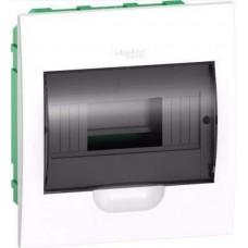 SE EASY 9 Корпус встраиваемый с прозрачной дверью 1ряд/8мод, IP40, IK07,63А, 2 клеммы