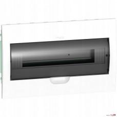 SE EASY 9 Корпус встраиваемый с прозрачной дверью 1ряд/18мод, IP40, IK07, 63А, 2 клеммы