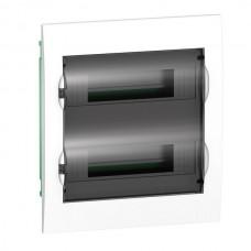 SE EASY 9 Корпус встраиваемый с прозрачной дверью 2ряд/24мод, IP40, IK07, 63А, 2 клеммы
