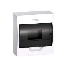 SE EASY 9 Корпус навесной с прозрачной дверью 1ряд/8мод, IP40, IK07, 63А, 2 клеммы