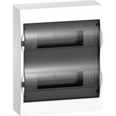 SE EASY 9 Корпус навесной с прозрачной дверью 2ряд/24мод, IP40, IK07, 63А, 2 клеммы