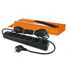 Сетевой фильтр СФ-06В с выкл. 6гн 3м с з/к ТДМ SQ 1304-0012