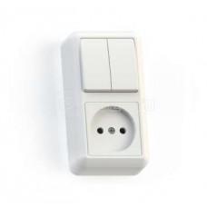Блок о/п (2кл выкл. + розетка) БКВР-404