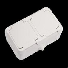 Блок розетка с крышкой + розетка с крышкой MAKEL IP44