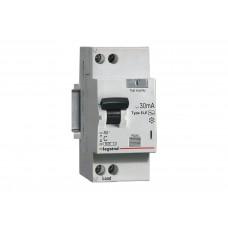 Legrand RX3 Дифференциальный автоматический выключатель 1P+Н 30мА 25А (AC)