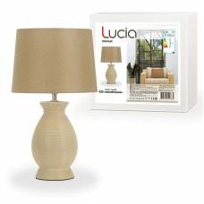 Настольная лампа ЛЮЧИЯ 425 «Касабланка» 60W E27 желто-коричневый
