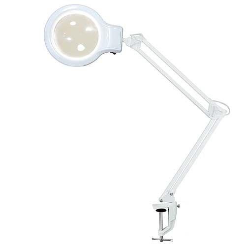 Настольная лампа Леда С-20 (8Вт,струб, увелич. линза, 2D) белая