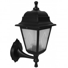 Светильник с/п НБУ 04-60-001 четырехгранник, настенный,пластик,черный TDM