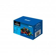 Гирлянда LED с контр, ULD-S0800-100/DGA MULTI IP20 COLORBALLS «Разноцветные шарики», 100 led, 8 м, провод зеленый