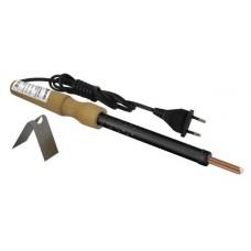 Паяльник ЭПЦН-80, деревянная ручка, мощность 80 Вт, 230 В, подставка в комплекте,