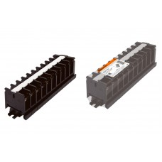 Блок зажимов БЗН 30А на DIN-рейку 10 пар TDM