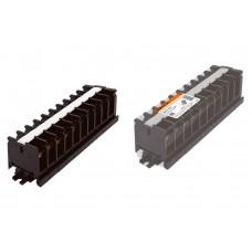 Блок зажимов БЗН 60А на DIN-рейку 10 пар TDM