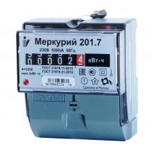 Электросчётчик Меркурий 201.7 (din-рейка, ОУ, 5(60)А, 220В)