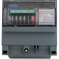 Электросчётчик Меркурий 201.6 (din-рейка, ОУ, 10(80)А, 220В)