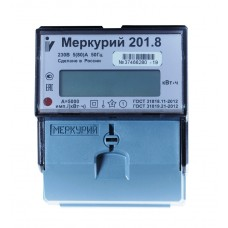 Электросчётчик Меркурий 201.8 (din-рейка, ЖКИ, 5(80)А, 220В)