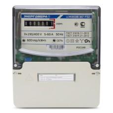 Электросчётчик Энергомера ЦЭ 6803В 1 3*230/400В 10(100)А М7 Р32 (3 болта)
