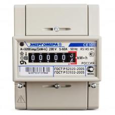 Электросчётчик Энергомера СЕ 101 R5 145 М6 (din-рейка, ОУ, 5(60)А, 220В)