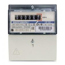 Электросчётчик Энергомера СЕ 101 R5.1 145 М6 (в щиток/din-рейка, ОУ, 5(60)А, 220В)