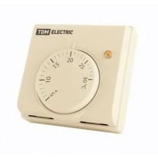 Термостат механический открытого монтажа НТ-1 сл. кость, TDM (индикатор, вкл/выкл, 10 А, 230 В)