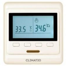 Электронный программируемый терморегулятор CLIMATIQ PT (слоновая кость)